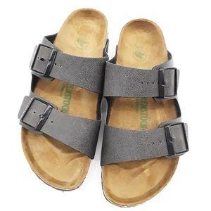 Birkenstock Vegan Grey and Black Sandals 39